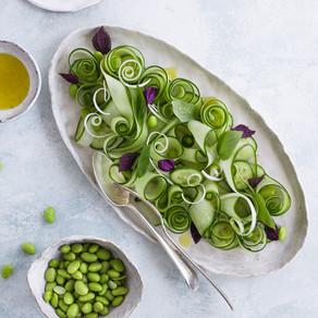 Cucumber & Spring Onion Salad, Shiso Vinaigrette