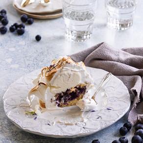 Blueberry Muffin Baked Alaska