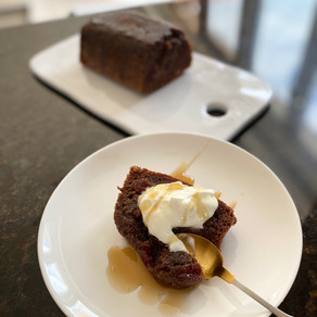 Sour Cherry & Acai Sticky Toffee Loaf: No added fat or refined sugar