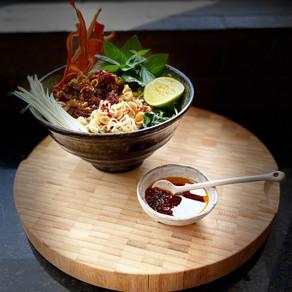 Vegan Sichuan Carrot Noodles