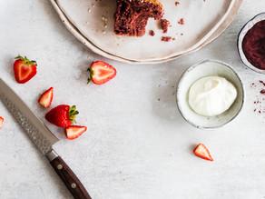 Strawberry, Hibiscus & Vanilla Muffins.