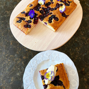 Blueberry, Baobab & Buttermilk Reduced Fat/ Sugar Cake