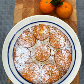Spiced Clementine & Whisky Cake. Gluten & Refined Sugar Free.