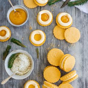 Pine & Lemon Custard Creams