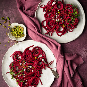 Beetroot & Spinach Linguine
