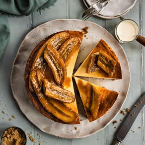 Bananas Foster Cheesecake 'Pop Goes My Tart'