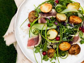 Tuna, Redcurrant & Radish Salad with Roast Garlic Yogurt