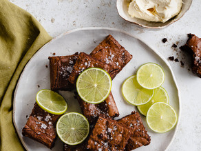 Salted Lime & Ginger Brownies