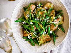 Crispy Potato & Bean Salad