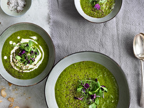 Pea, Spinach & Olive Soup