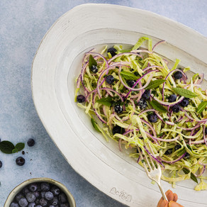 Cabbage & Blueberry Slaw with Alabama Dressing