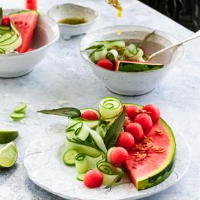 Watermelon, Green Nam Jim & Smoked Coconut