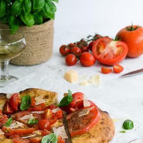 Spiced Tomato & Elderflower Giant Brushetta