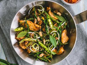 Asparagus & Samphire Kimchi Chicken Fry