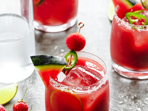 Watermelon, Strawberry & Jalapeño Rum Punch