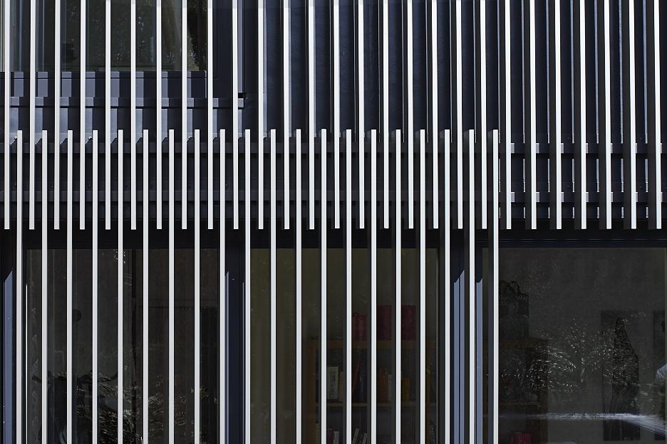 Fassade aus Vierkantrohren