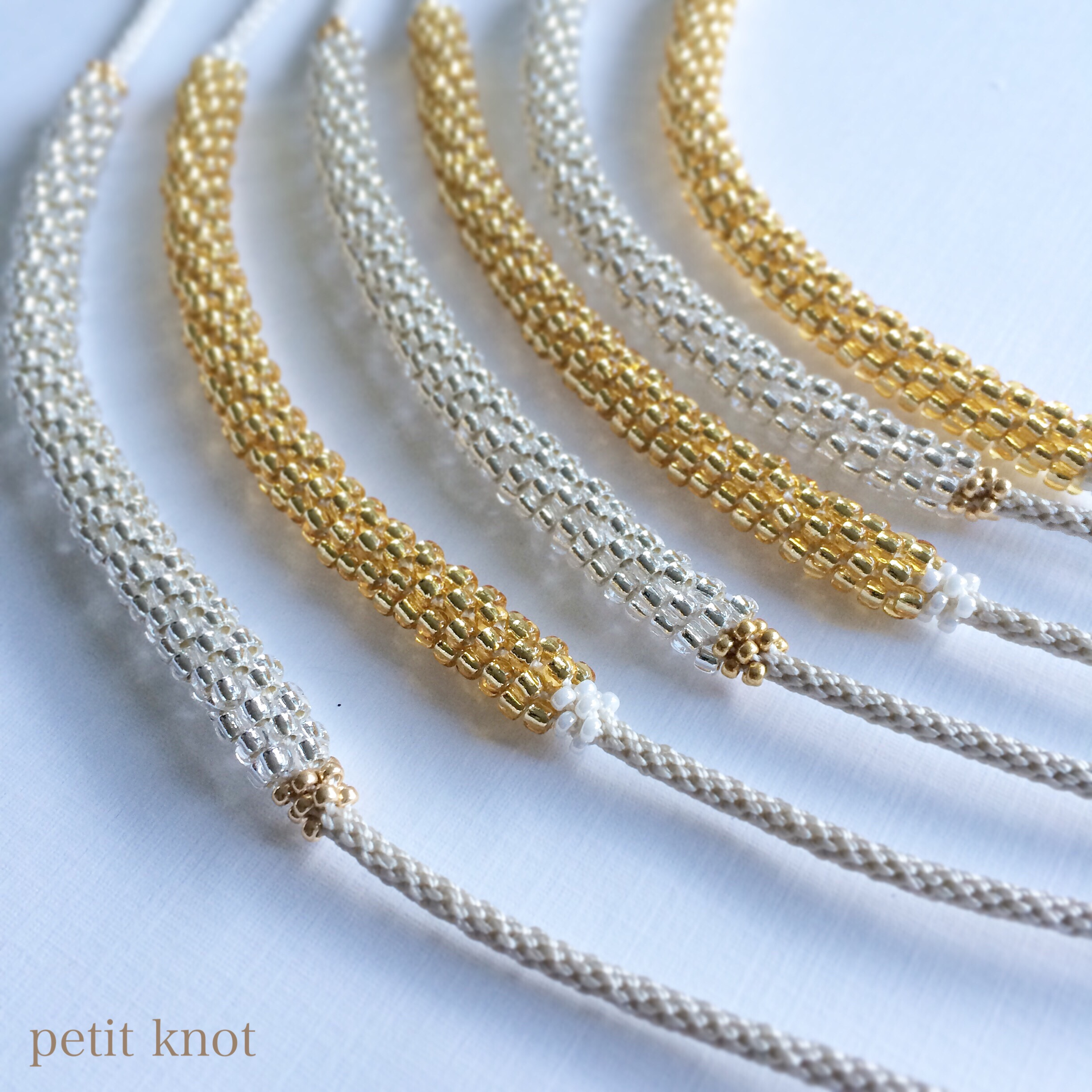 Kumihimo Necklaces (Gold, Silver)