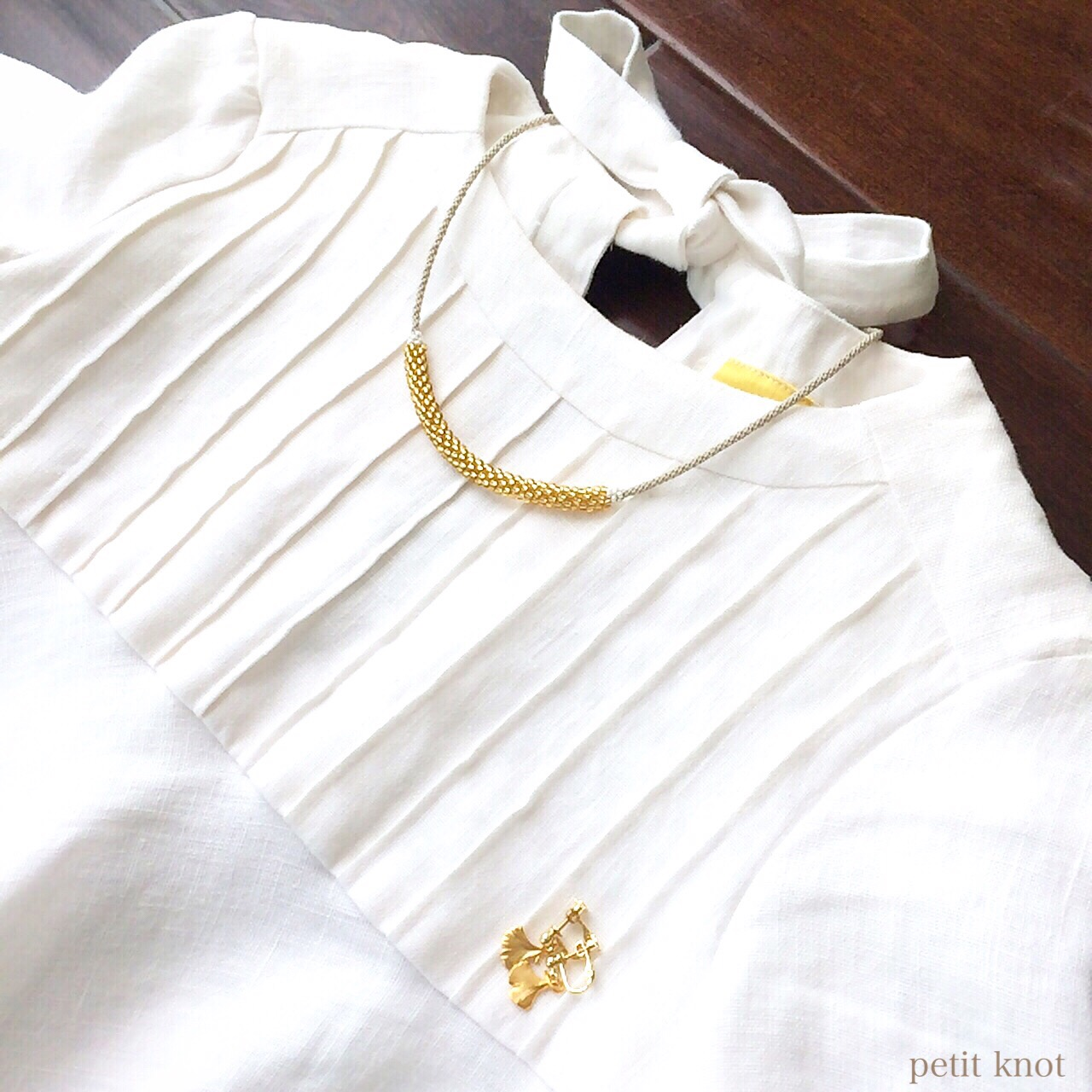 Kumihimo Necklace (Gold)