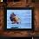 Thumbnail: Eagle over water - Framed artwork