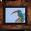 Thumbnail: Kingfisher takes lunch - Framed artwork