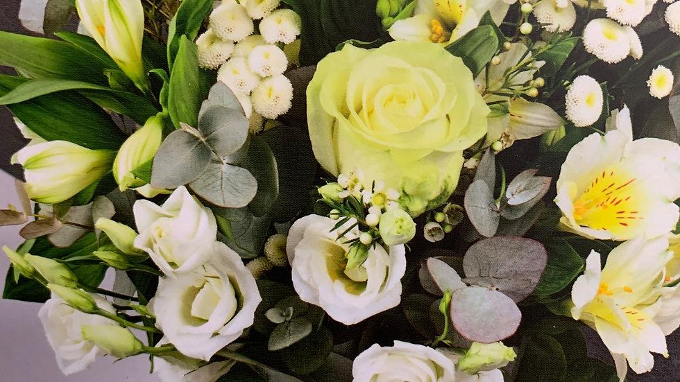 Bouquet rond blanc -  A partir de :