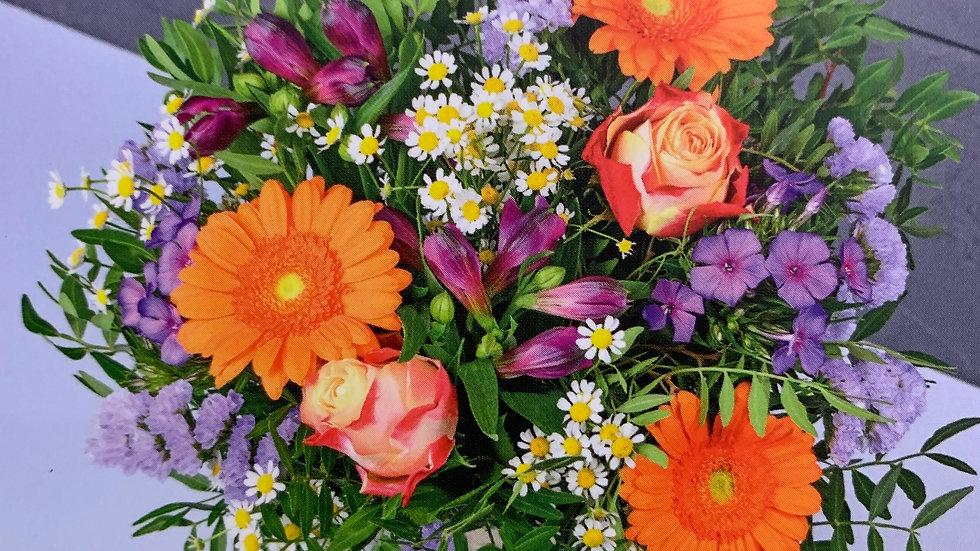 Bouquet rond coloré - A partir de :