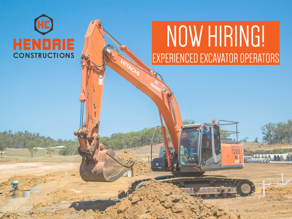 HENDRIE CONSTRUCTIONS NOW HIRING DUE TO STRONG DEMAND