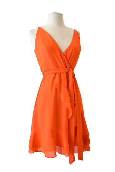 Vestido Naranja Vuelos