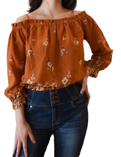Blusa Off Shoulders Floral
