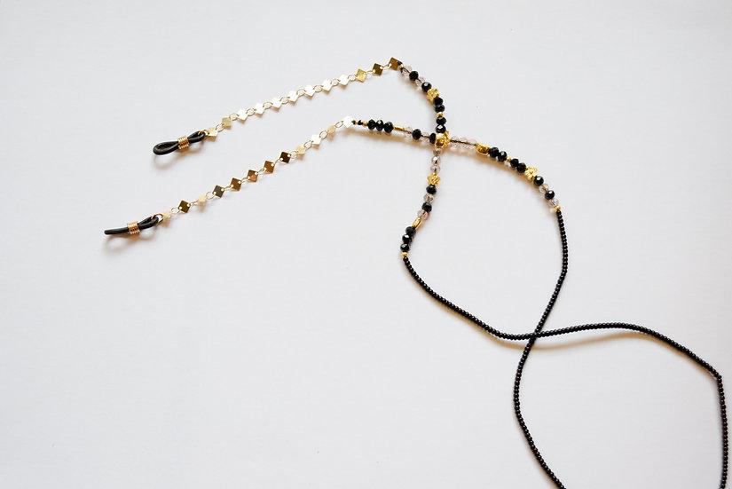 Cadena para Gafas Dorado Negro Blanco