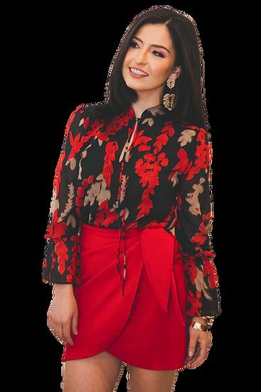 Falda Roja Cruzada