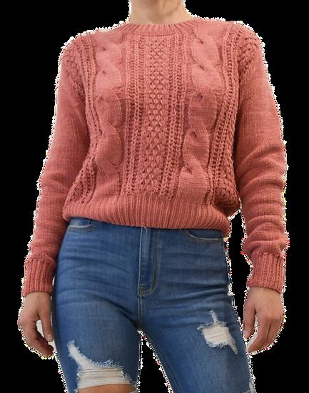 Sweater Rosa Oscuro Cadenas