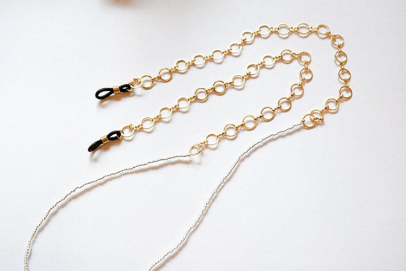 Cadena para Gafas Dorado Gris