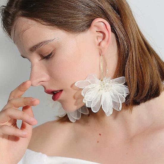 Aretes Flores de Tela