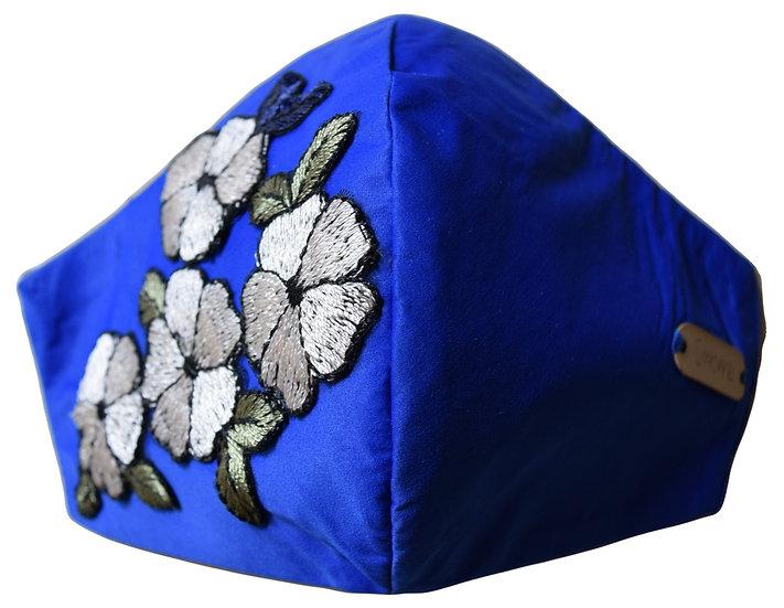 Mascarilla Bordada Azul