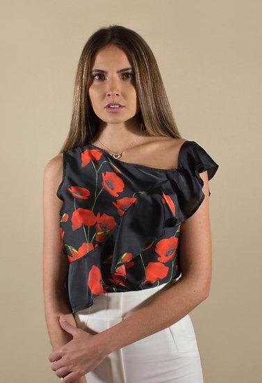 Blusa Flores Rojas