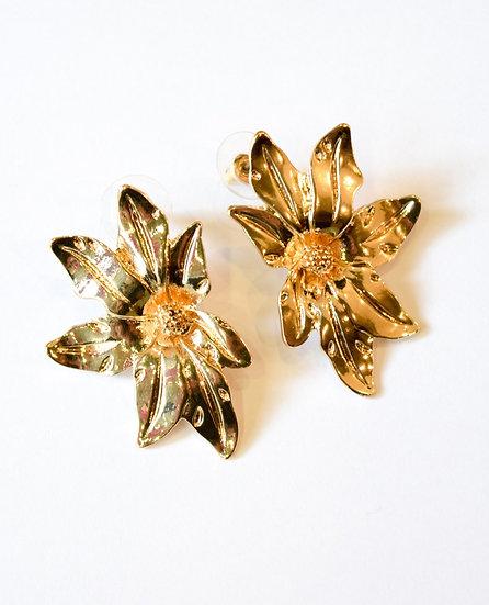 Aretes Dorados Flor