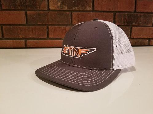 Richardson Snap Back Hat 112 White/Grey