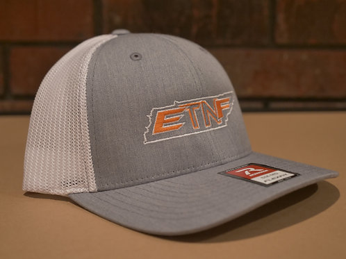 Light Grey/White Richardson Flexfit 110 Hat