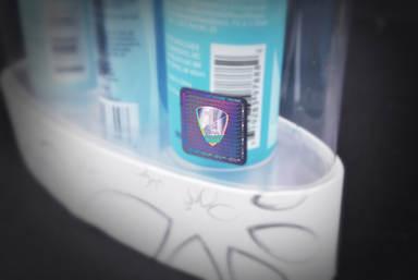 Hologram adhesive label Security label