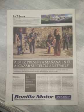 Almez en el periódico La Tribuna de Toledo