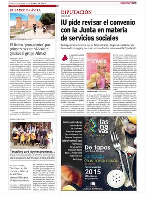 Almez en prensa y radio de Ávila