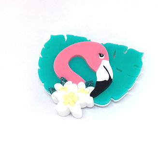 Floss the Flamingo Brooch