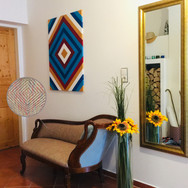 Vorzimmer: eigene Acrylmalerei
