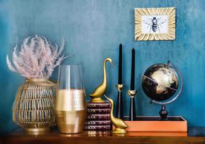 Sideboard Dekoration, Wandfarbe