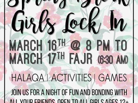 Girl's Spring Break Lock-In (3/16-17)