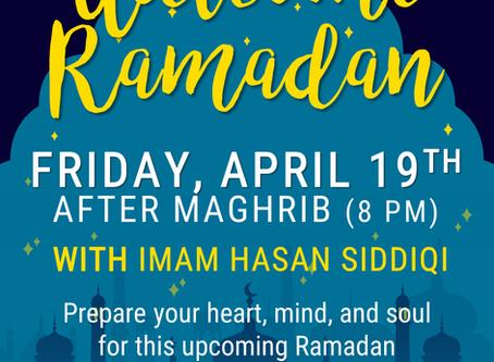 Welcome Ramadan   Pre-Ramadan Family Night