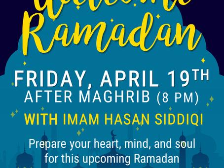 Welcome Ramadan | Pre-Ramadan Family Night