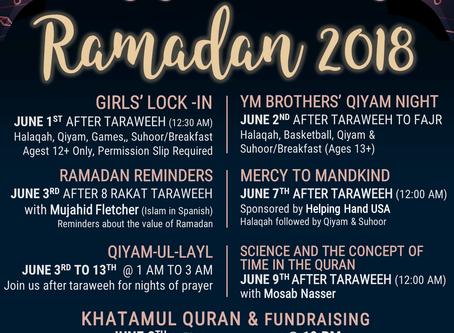 Ramadan 2018 Events