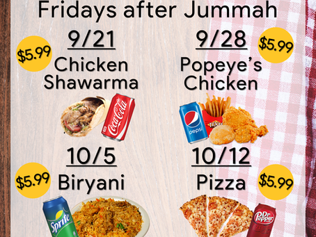 Jummah Food Fundraiser